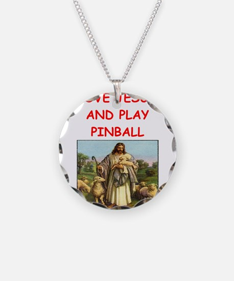 i love pinball Necklace