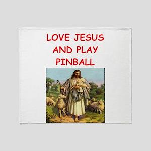 i love pinball Throw Blanket