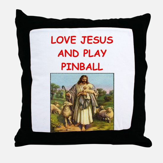 i love pinball Throw Pillow