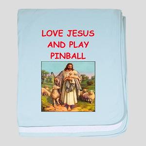 i love pinball baby blanket