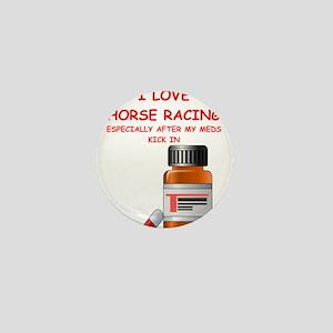 i love horse racing Mini Button