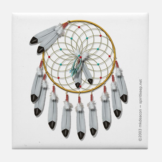Dream Catcher #1 Tile Coaster