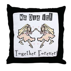 Lesbian Wedding Throw Pillow