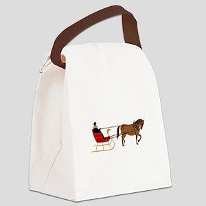 Winter Sleigh Canvas Lunch Bag