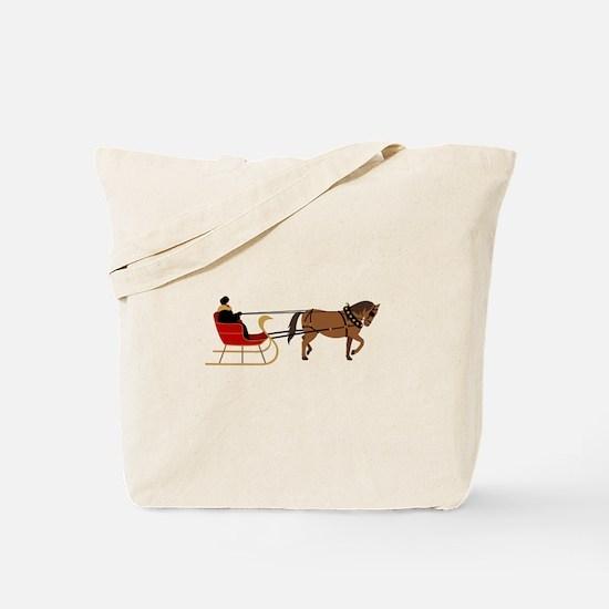 Winter Sleigh Tote Bag
