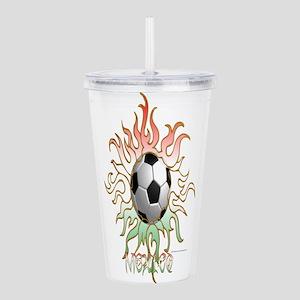Soccer Tribal Sun Acrylic Double-wall Tumbler