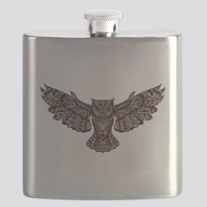 Metallic owl Flask