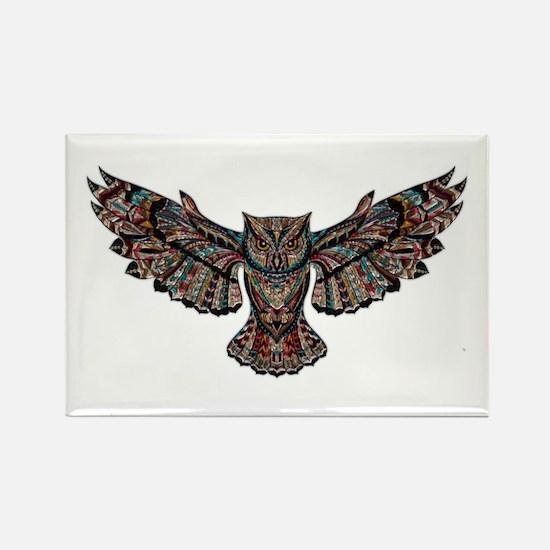Metallic owl Magnets