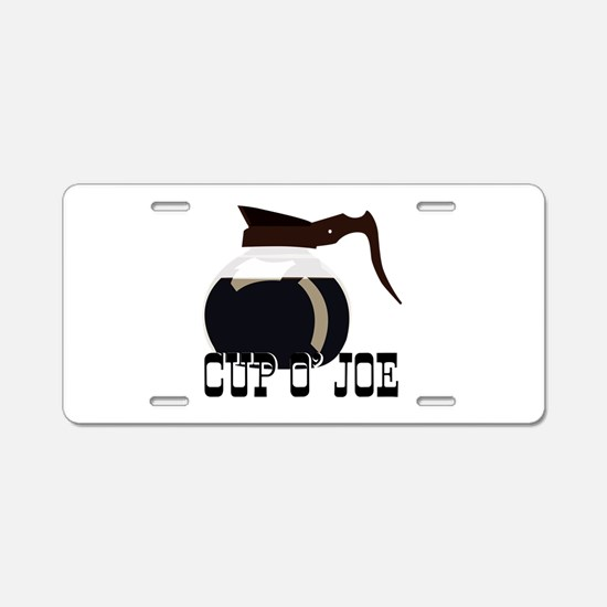 Cup O Joe Aluminum License Plate