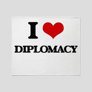 I Love Diplomacy Throw Blanket