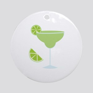 Lime Margarita Ornament (Round)