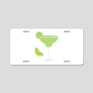 Lime Margarita Aluminum License Plate