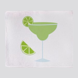 Lime Margarita Throw Blanket