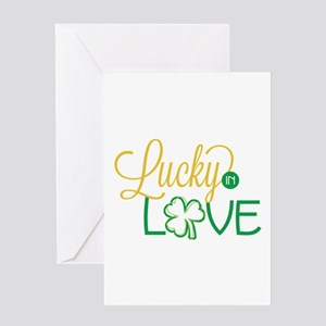 Lucky in Love Greeting Cards