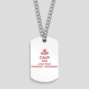 Keep Calm and love your Pharmacy Technici Dog Tags