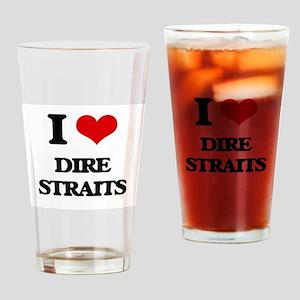 I Love Dire Straits Drinking Glass