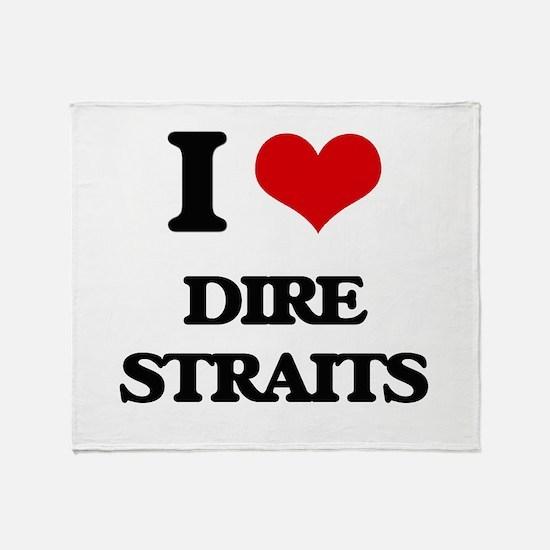 I Love Dire Straits Throw Blanket