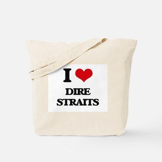 I Love Dire Straits Tote Bag