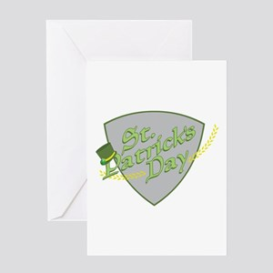 St Patricks Shield Greeting Cards