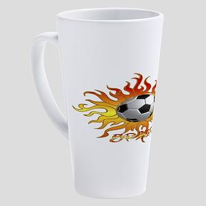 Soccer Tribal Sun 17 oz Latte Mug