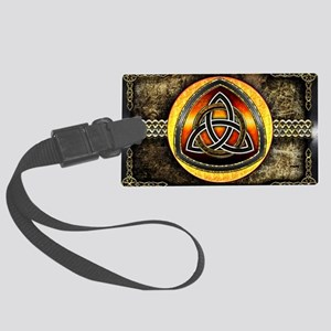 Celtic Shield by Bluesax Large Luggage Tag