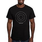 White Outline Men's Fitted T-Shirt (dark)