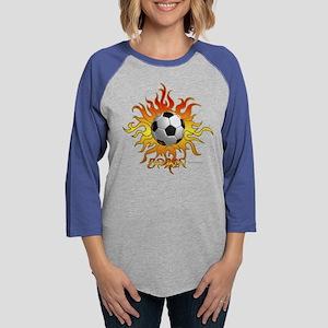 Soccer Tribal Sun Long Sleeve T-Shirt