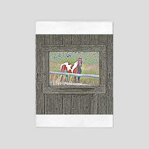 Old window pony 2 5'x7'Area Rug