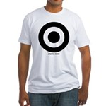 Black on White Fitted T-Shirt