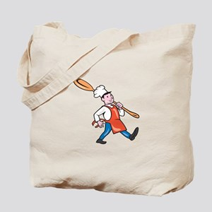 Chef Cook Marching Spoon Cartoon Tote Bag
