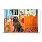 Room & Newfoundland Sticker (Rectangle)