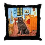 Room & Newfoundland Throw Pillow