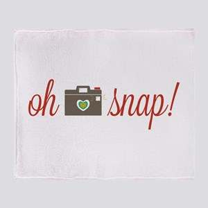 Oh Snap Camera Throw Blanket