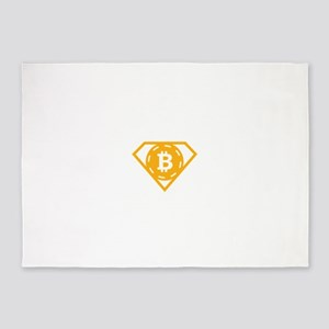 StonefishSays Bitcoin Logo Tee 5'x7'Area Rug