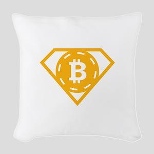 StonefishSays Bitcoin Logo Tee Woven Throw Pillow