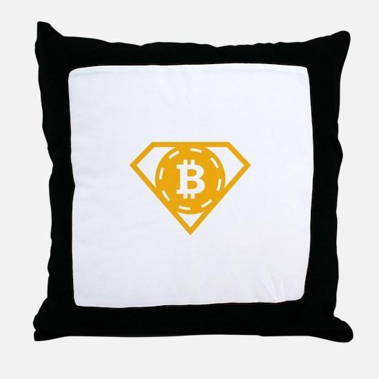 StonefishSays Bitcoin Logo Tee Throw Pillow