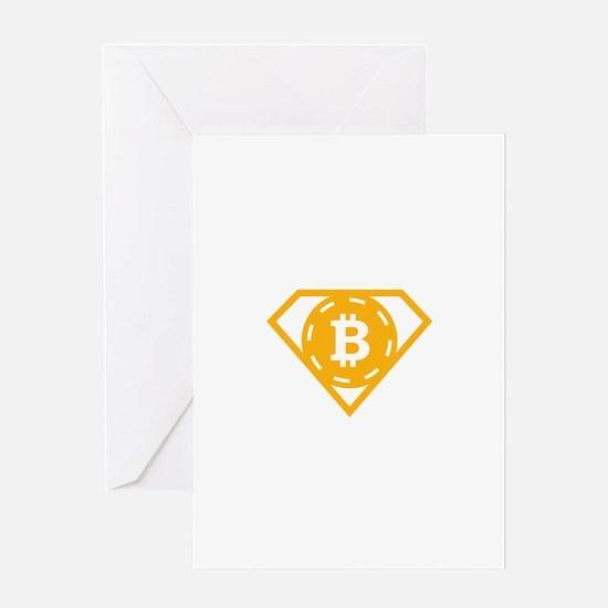 StonefishSays Bitcoin Logo Tee Greeting Cards