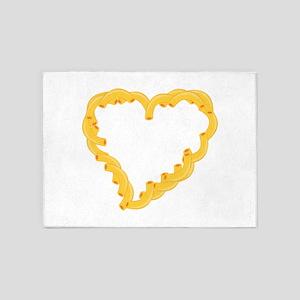 Macaroni Heart 5'x7'Area Rug