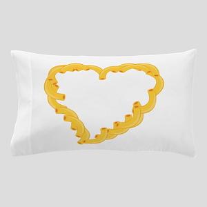 Macaroni Heart Pillow Case