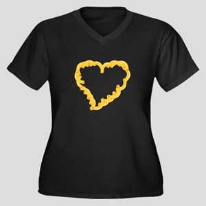 Macaroni Heart Plus Size T-Shirt