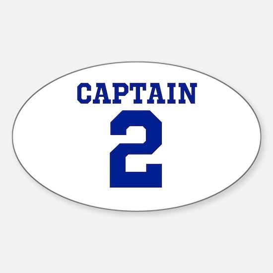 CAPTAIN #2 Sticker (Oval)