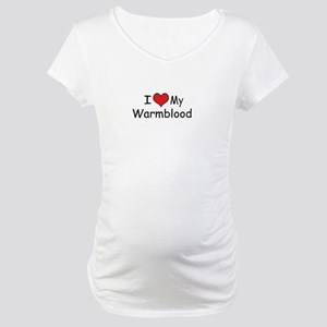 "I ""Heart"" my Dressage Horse Maternity T-Shirt"
