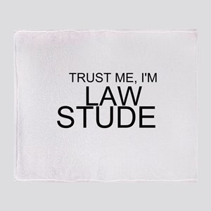 Trust Me, I'm A Law Student Throw Blanket