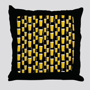 Festive Beer Pints Throw Pillow
