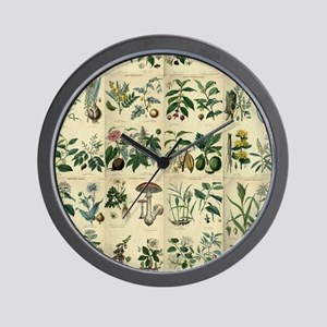 Illustrated Flora Wall Clock