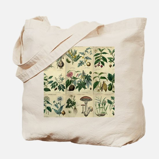 Illustrated Flora Tote Bag