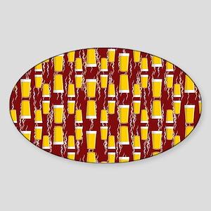 Upside Down Pints Sticker (Oval)