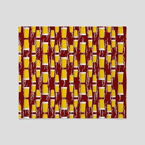 Upside Down Pints Throw Blanket