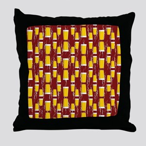 Upside Down Pints Throw Pillow