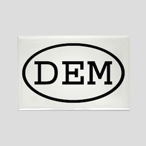 DEM Oval Rectangle Magnet